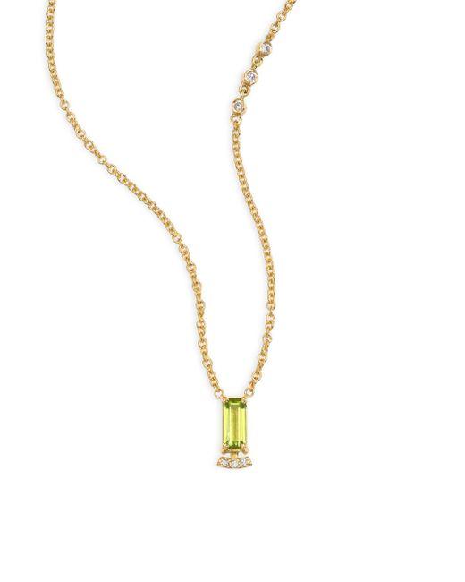 Paige Novick | Multicolor Powerful Pretty Things Diamond & Peridot Choker | Lyst