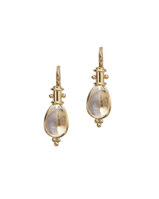 Temple St. Clair - Metallic Classic Rock Crystal & 18k Yellow Gold Amulet Drop Earrings - Lyst