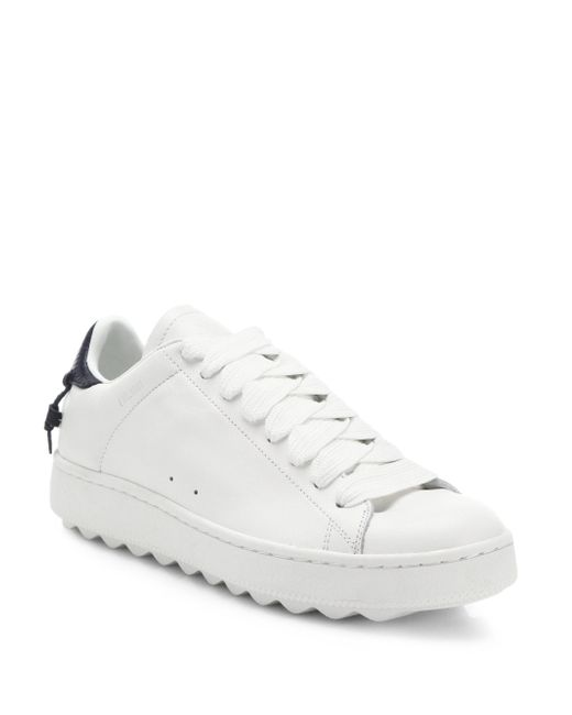 COACH - White Leather Sneakers for Men - Lyst