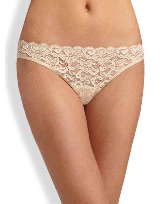 Hanro - Natural Luxury Moments Lace Briefs - Lyst