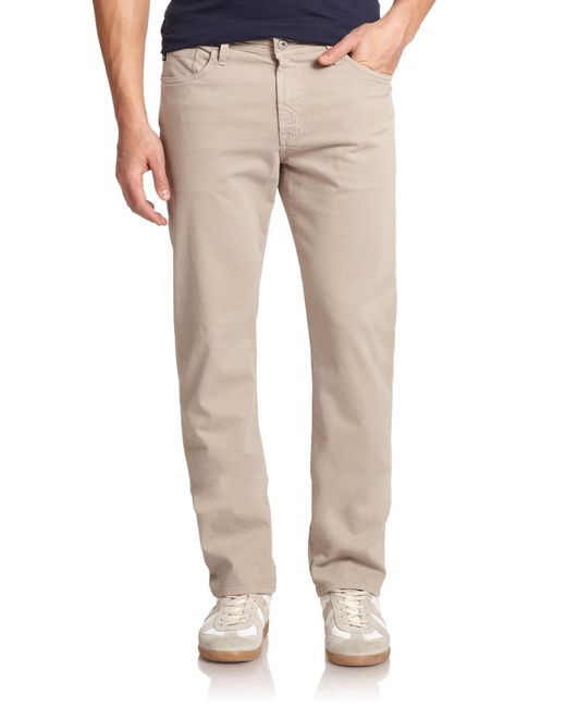 AG Jeans - Natural Graduate Twill Slim Straight Pants for Men - Lyst