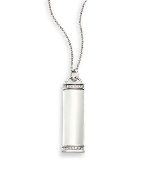 Kwiat   Metallic Diamond & 18k White Gold Tag Pendant Necklace   Lyst