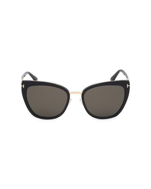 Tom Ford Black Simona Cat Eye Sunglasses