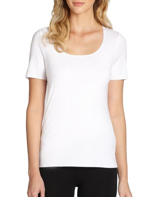 Wolford - White Pure Tee - Lyst