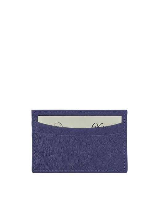 Graphic Image - Blue Slim Design Leather Card Case - Lyst