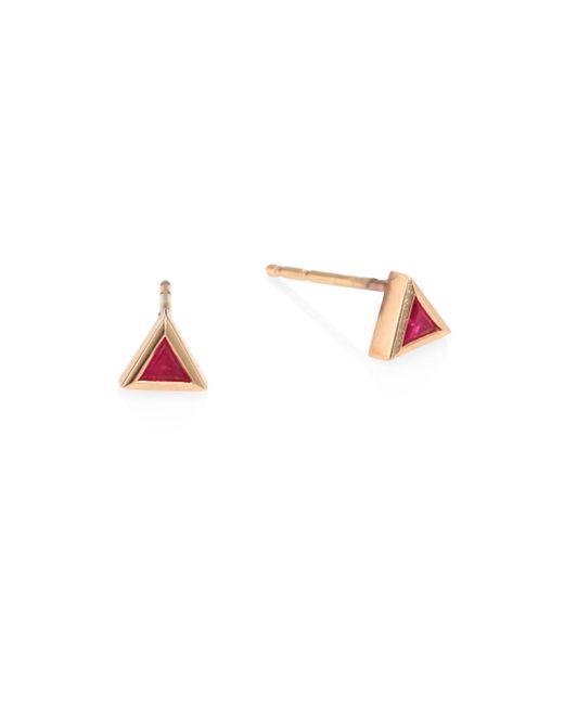 Melissa Kaye - Multicolor Chloe Ruby & 18k Pink Gold Single Stud Earring - Lyst