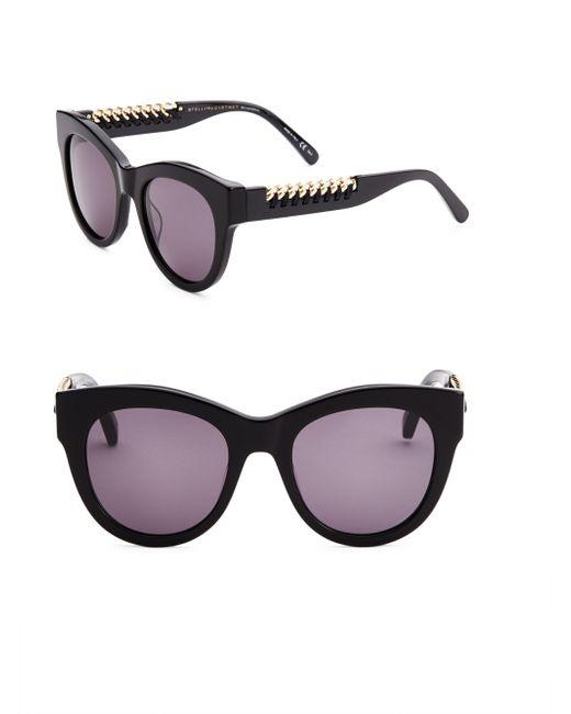 Stella McCartney - Black 119mm Oversized Cat Eye Sunglasses - Lyst