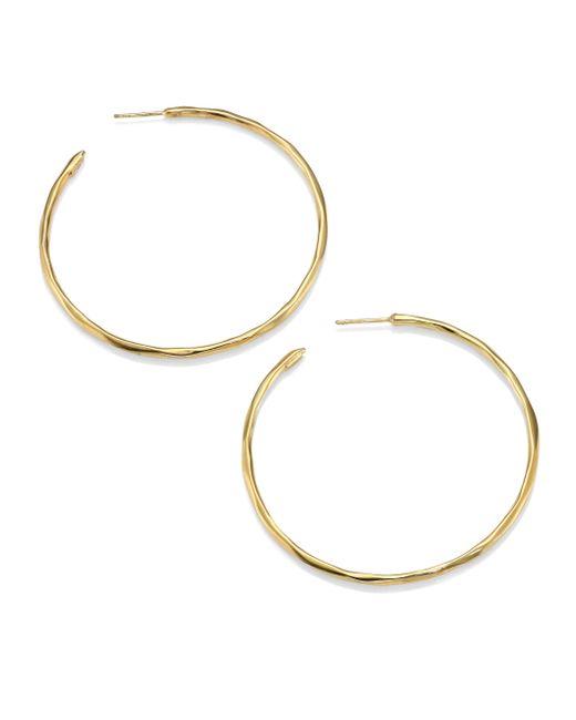 Ippolita | Metallic Glamazon 18k Yellow Gold #4 Hoop Earrings/2.3 | Lyst