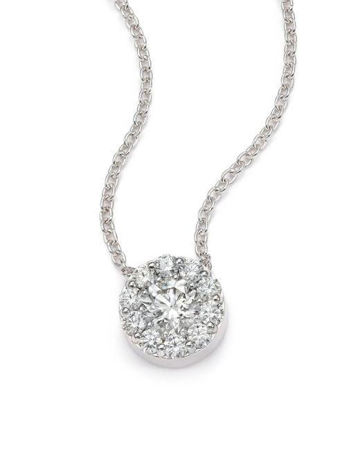 Hearts On Fire - Metallic Fulfillment Diamond & 18k White Gold Pendant Necklace - Lyst