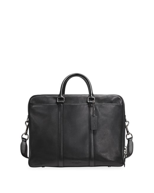 COACH - Black Metropolitan Leather Briefcase for Men - Lyst