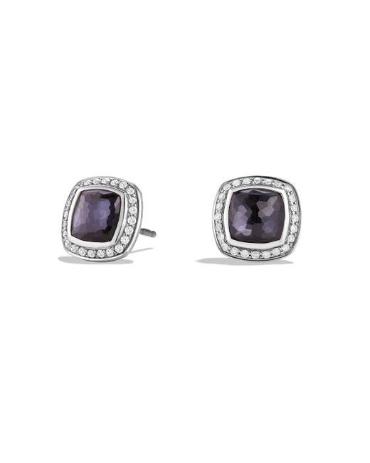 David Yurman - Black Albion Earrings With Diamonds - Lyst