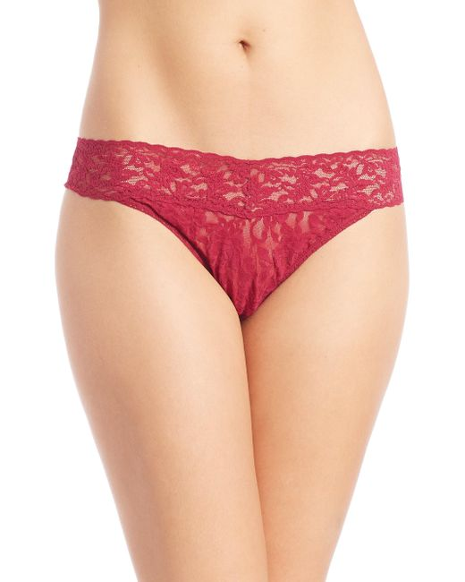 Hanky Panky Red Lace Hipster Thong Panties