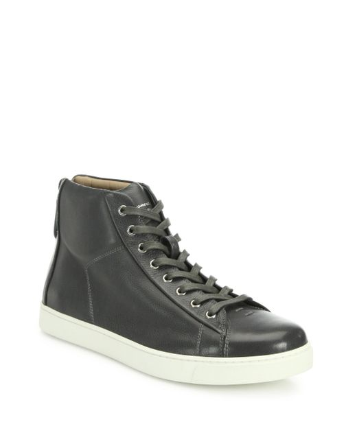 Gianvito Rossi | Gray Leather High-top Sneakers for Men | Lyst