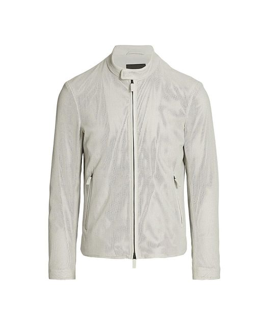 Giorgio Armani Multicolor Perforated Full-zip Jacket for men