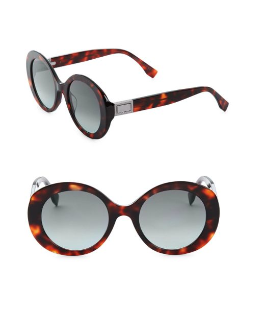 Fendi - Multicolor 52mm Round Sunglasses - Lyst