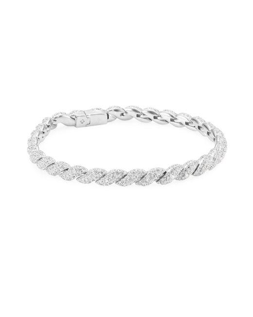 Adriana Orsini - Metallic Flexible Pave Swarovski Crystal Link Bracelet - Lyst