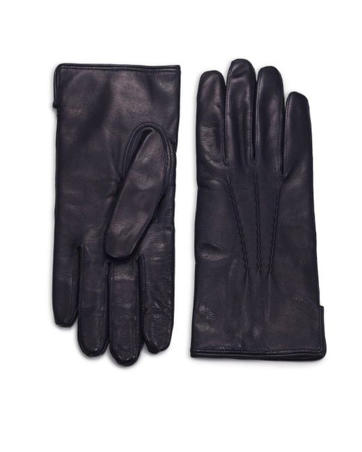 Saks Fifth Avenue | Blue Leather Gloves for Men | Lyst