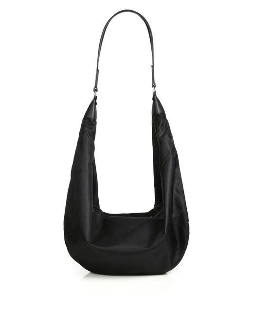 The Row - Black Nylon Sling Hobo Bag - Lyst