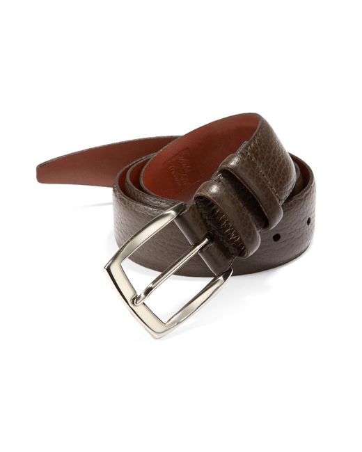 Saks Fifth Avenue - Brown Tumbled Leather Belt for Men - Lyst