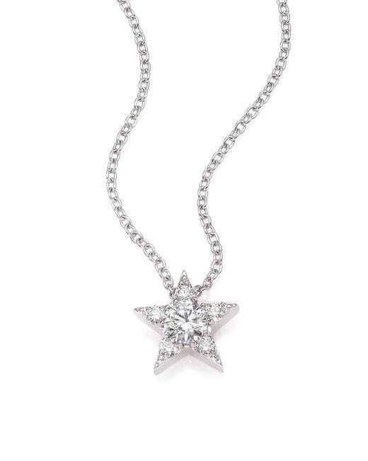 Hearts On Fire - Illa Diamond & 18k White Gold Cluster Pendant Necklace - Lyst