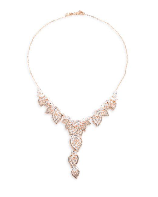 Adriana Orsini | Metallic Magnolia Crystal Y Necklace | Lyst