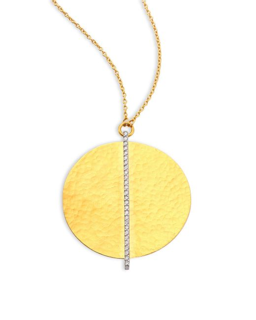 Gurhan - Metallic Lush Diamond Large 24k Yellow Gold Pendant Necklace - Lyst