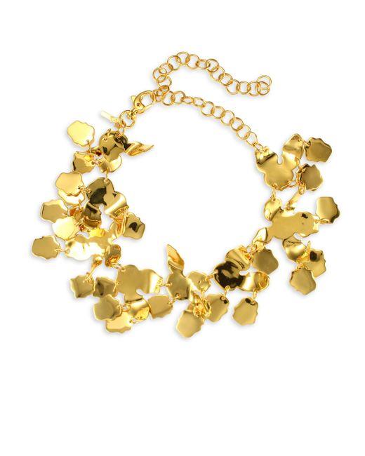 Lele Sadoughi - Metallic Rio Golden Lily Statement Necklace - Lyst