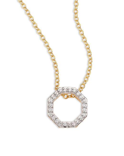 Phillips House Metallic Open Petite Hero Diamond & 14k Yellow Gold Pendant Necklace
