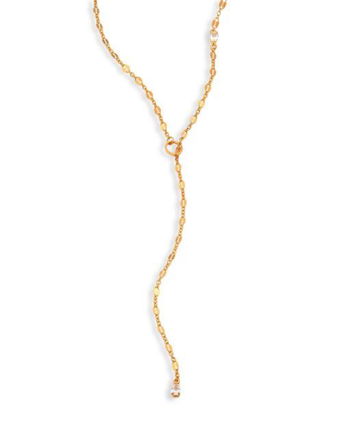 Jennifer Zeuner - Metallic Gemma White Sapphire Lariat Necklace - Lyst