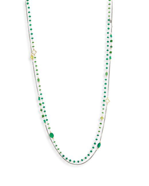 David Yurman - Multicolor Bead Layering Necklace - Lyst