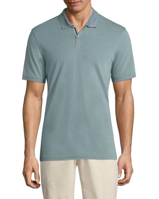 AG Green Label | Green Mensa Heathered Polo for Men | Lyst