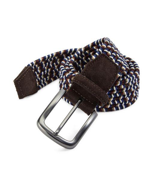 Saks Fifth Avenue - Blue Braided Leather Belt for Men - Lyst