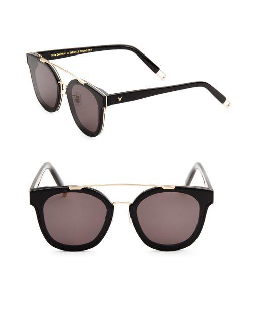 Gentle Monster | Gray Tilda Swinton X Newtonic 64mm Rounded Square Sunglasses | Lyst