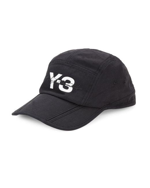 Y-3 - Black Foldable Baseball Cap for Men - Lyst