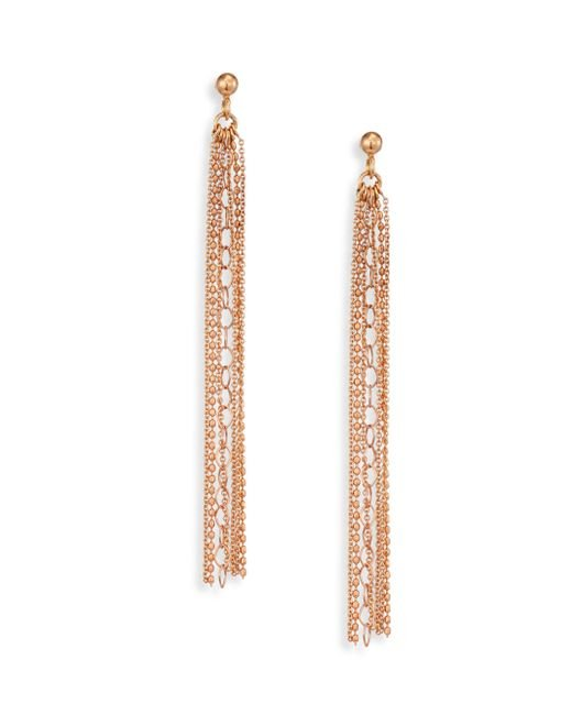 Ginette NY - Metallic Unchained 18k Rose Gold Long Tassel Earrings - Lyst