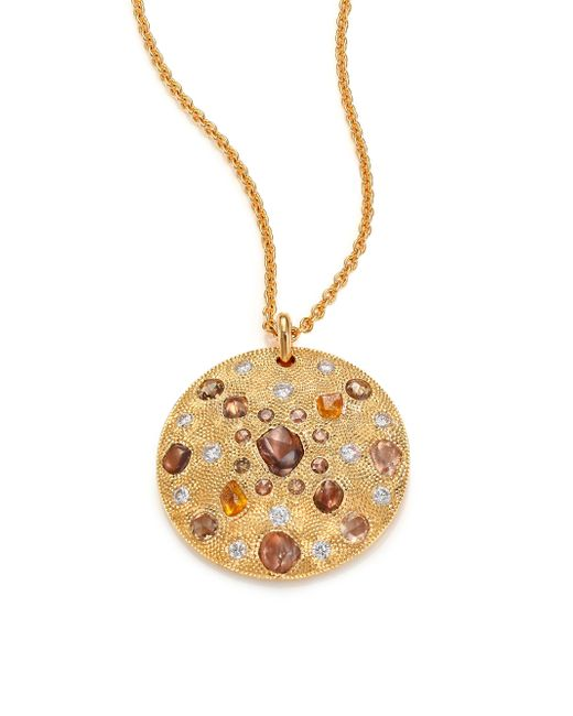 De Beers - Metallic Small Yellow Gold Talisman Medal Necklace - Lyst