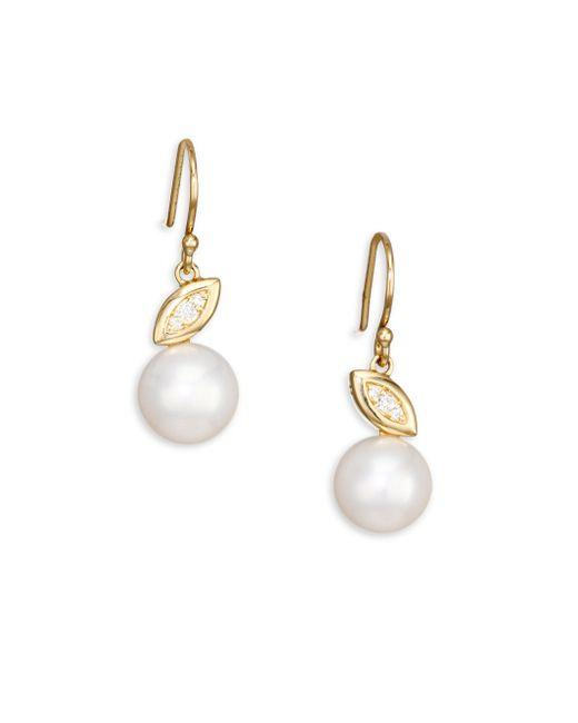 Ippolita - Metallic Nova 18k Gold Pearl & Diamond Drop Earrings - Lyst