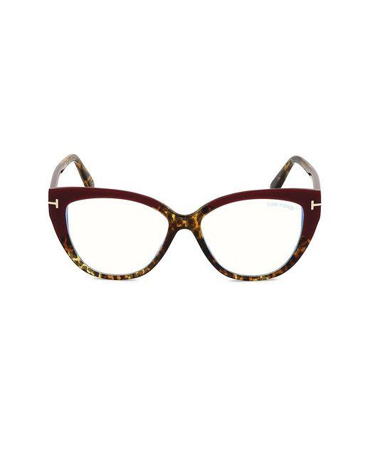 Tom Ford Black 54mm Blue Filter Cat Eye Optical Glasses
