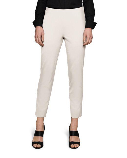 Lafayette 148 New York - White Stanton Italian Stretch-wool Pants - Lyst