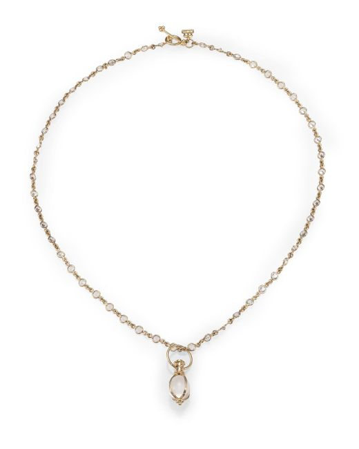 Temple St. Clair - Metallic Classic Rock Crystal & 18k Yellow Gold Amulet - Lyst