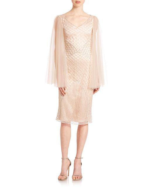 Randi Rahm | Natural Joan Crystal-net Cocktail Dress | Lyst