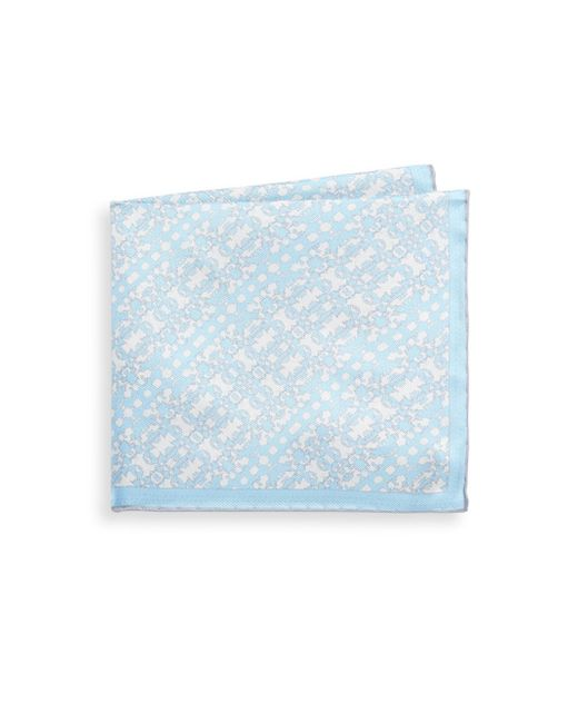 Hook + Albert - Blue State Silk Pocket Square - Lyst