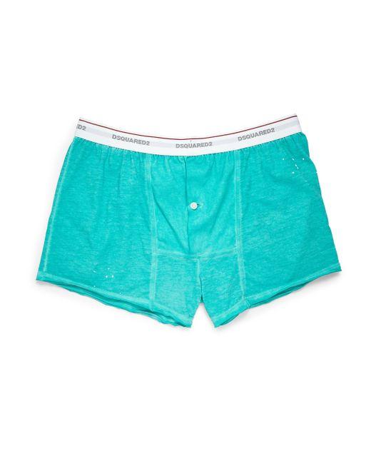 DSquared² - Green Ink Splatter Boxers for Men - Lyst