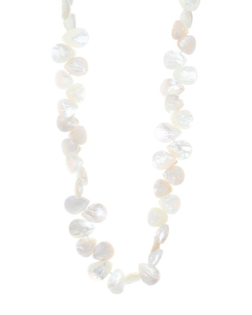 Nest - White Long Mother-of-pearl Necklace - Lyst