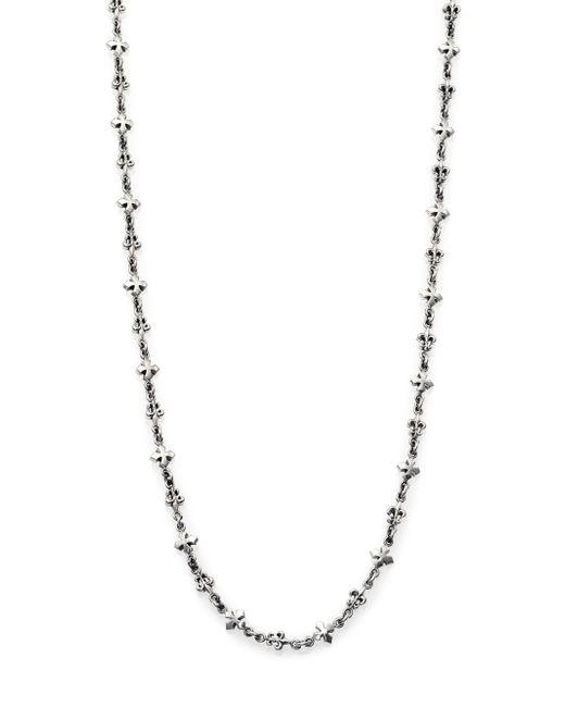 King Baby Studio - Metallic Fleur De Lis & Cross Necklace for Men - Lyst