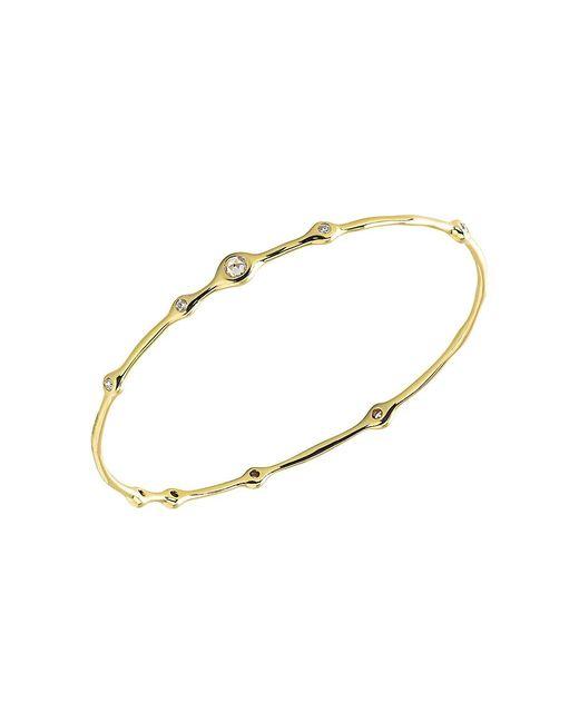 Ippolita Metallic Stardust 18k Yellow Gold & 9-diamond Bangle Bracelet