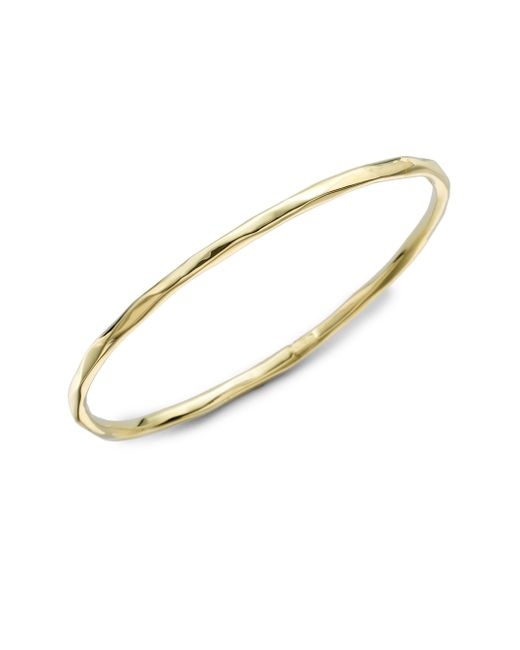 Ippolita - Metallic Glamazon Sculptural Metal 18k Yellow Gold Bangle Bracelet - Lyst