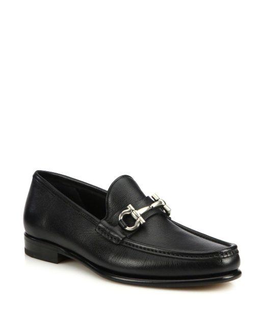 Ferragamo | Black Mason Loafers for Men | Lyst