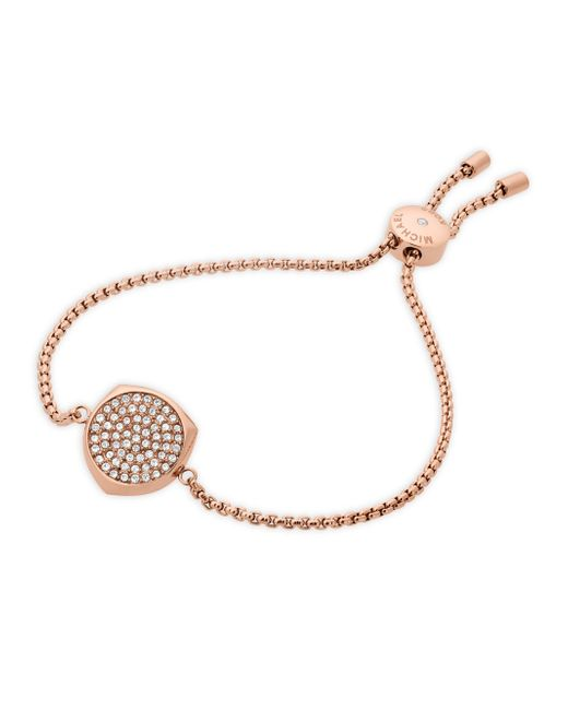 Michael Kors - Multicolor Beyond Brilliant Pave Slider Bracelet/rose Goldtone - Lyst