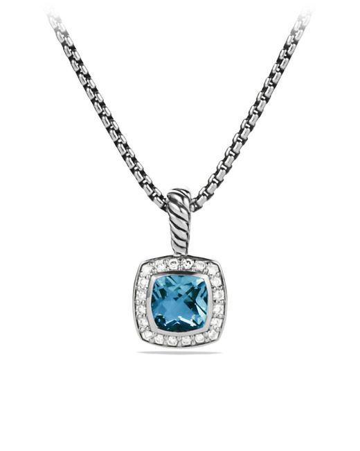 David Yurman - Blue Albion Pendant With Diamonds, 11mm Gemstone - Lyst